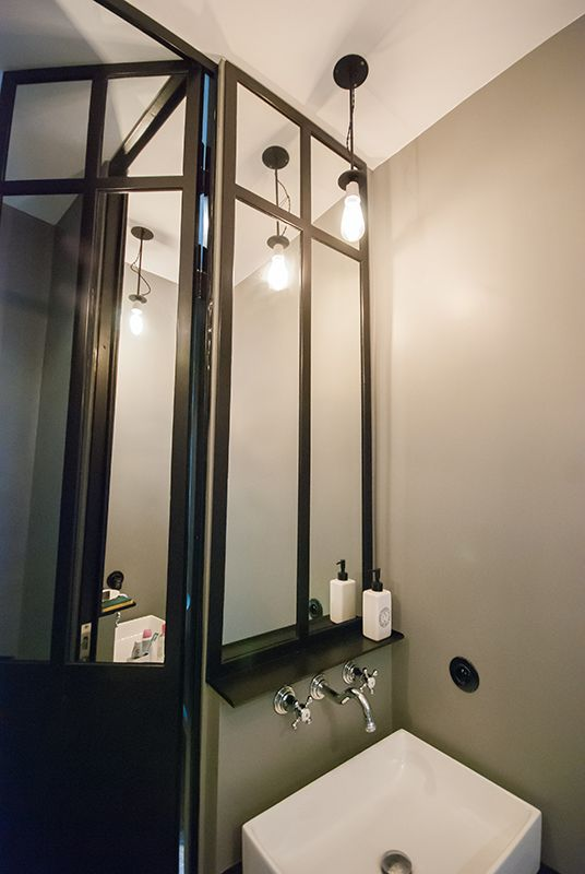 porte de douche et miroirs en m tal conception et. Black Bedroom Furniture Sets. Home Design Ideas