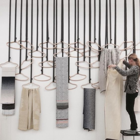 «Hangers with handpicked textiles... Lovely styling to do at @northmodern in the northmodern central, meet us at #teatribute stand ES-032 and see great…»