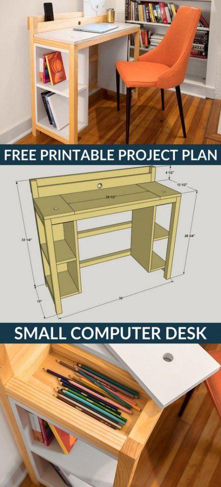 Super Craft Room Diy Storage Woods 51 Ideas Small Computer Desk Small Space Diy Room Diy