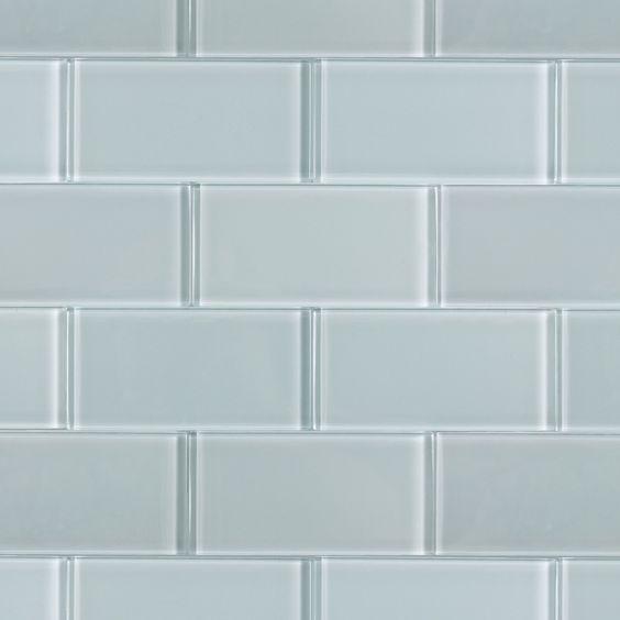 White Glass Kitchen Tiles: Loft Natural White Polished 3x6 Glass Tile