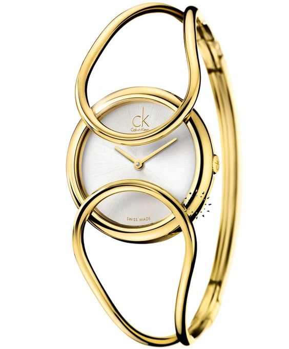 CALVIN KLEIN Inclined Gold Stainless Steel Bangle, 298€ http://www.oroloi.gr/product_info.php?products_id=33699