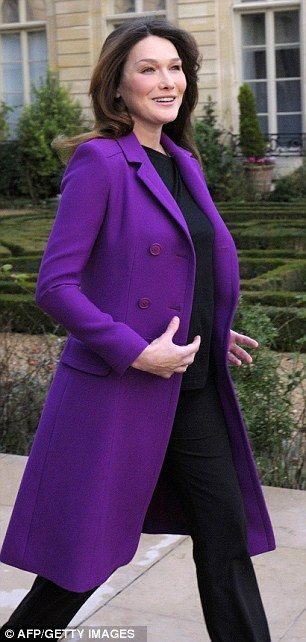 Purple coat.: