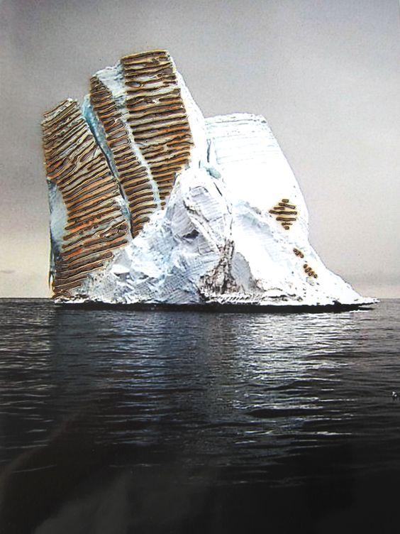 #Brandmalerei #regina-basaran  #Eisberg die andere Seite #Schattenseite