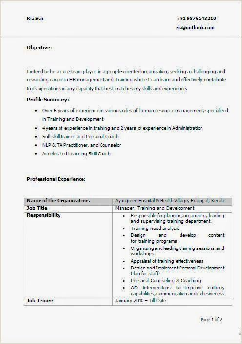 Best Resume Headline For Freshers In 2020 Training And Development Cv Examples Skills To Learn