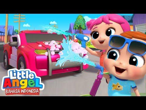 Mencuci Mobil Bersama Keluarga Lagu Cuci Mobil Little Angel Bahasa Indonesia Youtube Lagu Mobil Bahasa Indonesia