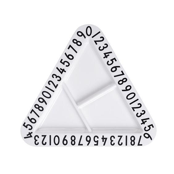 Design Letters   Menüteller Dreieck Melamin