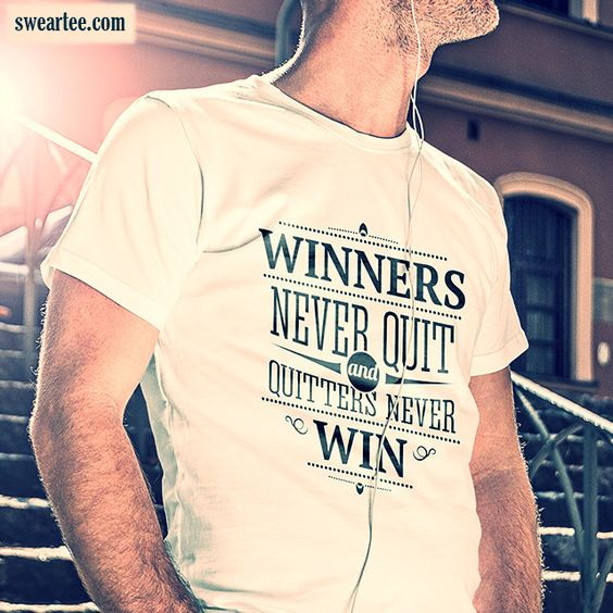 Winners never quit and quitters never win.  Check out our catalog. http://smarturl.it/shopnpm #fashion #quotes #quote