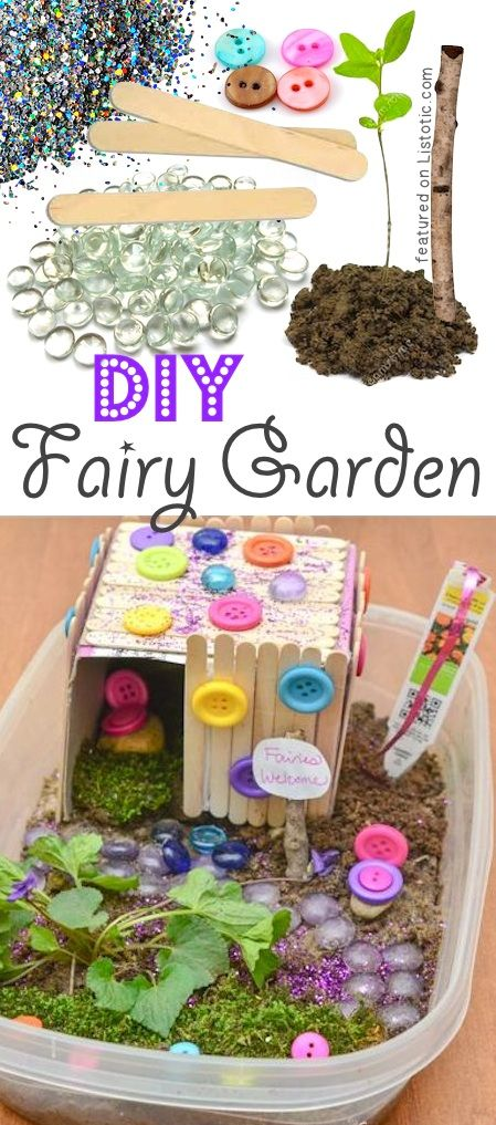 DIY Fairy Garden. CUTE!! -- 29 creative crafts for kids that parents will actually enjoy doing, too!: