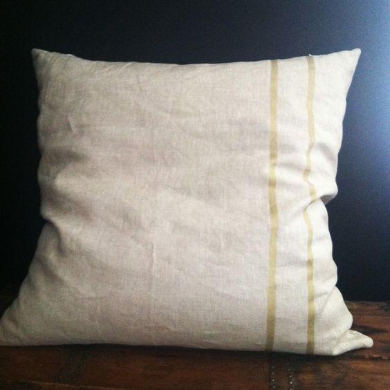Gold stripes, Metallic gold and Throw pillows on Pinterest