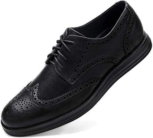black smart work shoes
