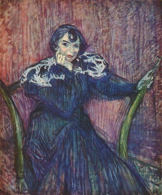 Portrait of Berthe Bady, 1897  Henri de Toulouse-Lautrec