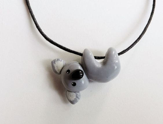 Hanging Koala Necklace Cute Polymer Clay Pendant by cbexpress https://www.etsy.com/uk/listing/176141495/hanging-koala-necklace-cute-polymer-clay?ref=shop_home_active_16