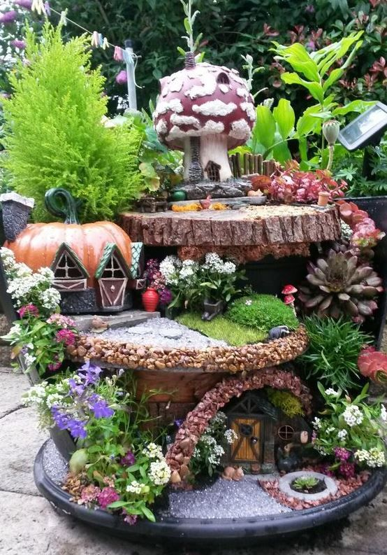 Stunning Landscaping With Epic Fairy Gardens Design Inspiration Inc Fairy Garden Pots Indoor Fairy Gardens Fairy Garden Designs