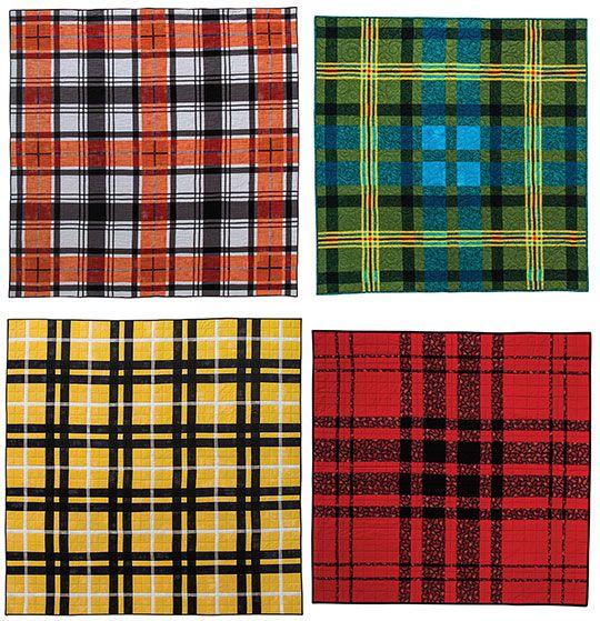 Traditional Scottish Tartans Made Into Modern Quilts Modern Quilts Scottish Tartans Quilt Retreat