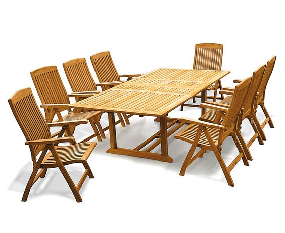 Dorchester Rectangular Teak Garden Furniture Sets | Bamburgh ...