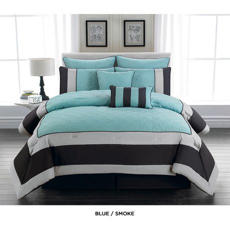 King Size Teal And Gray Bedding Set Home Sweet Home