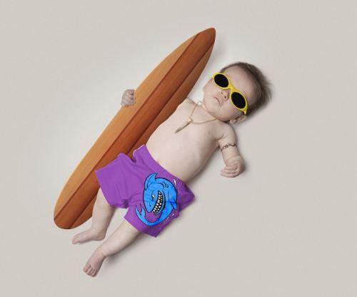 Aww lil surfer dude!