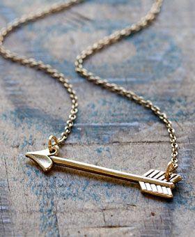 A Mano Trading Company - Golden Arrow Necklace