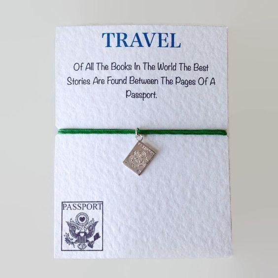 Friendship Bracelet: Passport Travel Charm Bracelet! BFF Best Friend travel Bracelet! Adjustable Cord Bracelet. Unisex Bracelet Gift! by PetitePolly on Etsy
