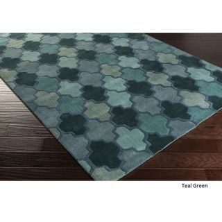 Hand Tufted Moroccan Elephant Wool Area Rug 9 X 13 Taupe Grey