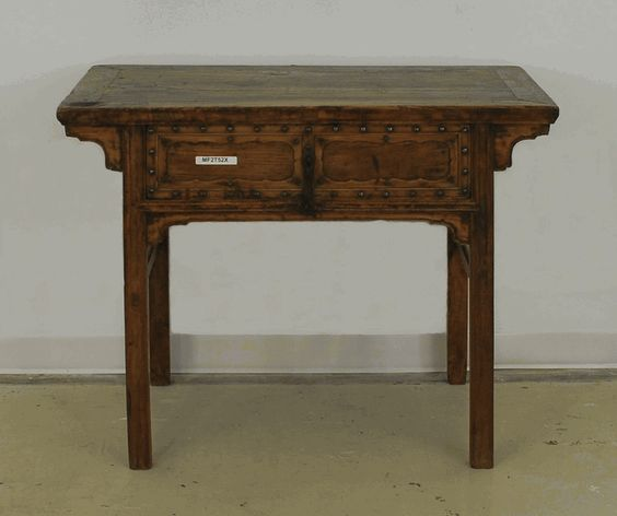 Antique asian furniture ming era one drawer desk from for Asian inspired desk