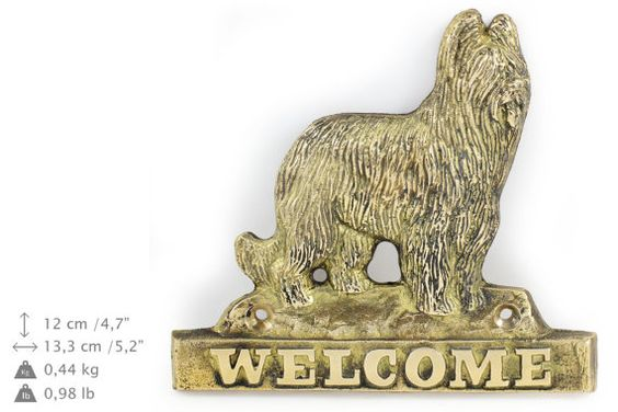 Briard dog welcome hanging decoration limited by ArtDogshopcenter