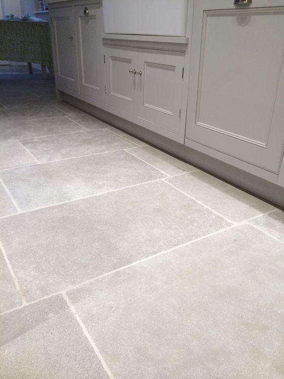 Pin By Gigi On Project Oj Grey Kitchen Floor Kitchen Flooring Limestone Tile