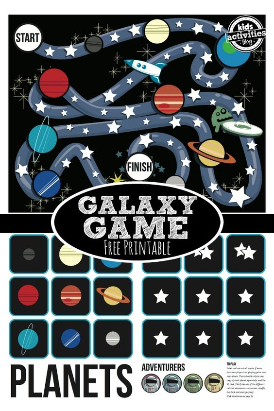 *FREE* Stars and Planets Printable Game:
