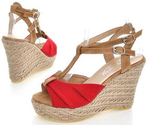 Sexy Solid Soft Leather Synthetic Gladiator Type Buckle Strap Sandal - | Stylish Beth