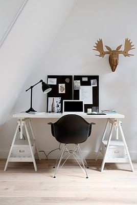 work space. very simple and clean.