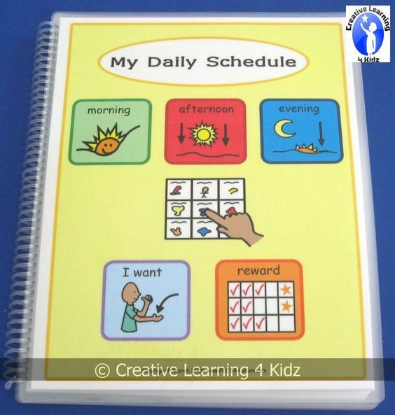MY DAILY SCHEDULE BOOK w/270 PECS Autism ABA Speech ...