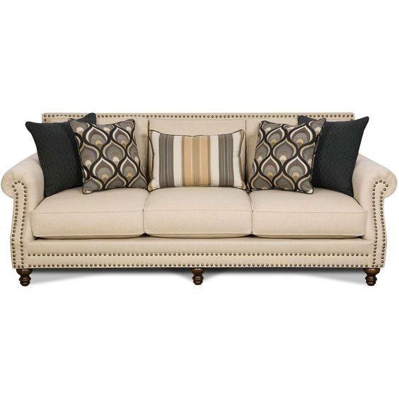 Twin Oatfield 93 Oatmeal Upholstered Sofa Rc Willey Home Frunishings Mcnair Residence
