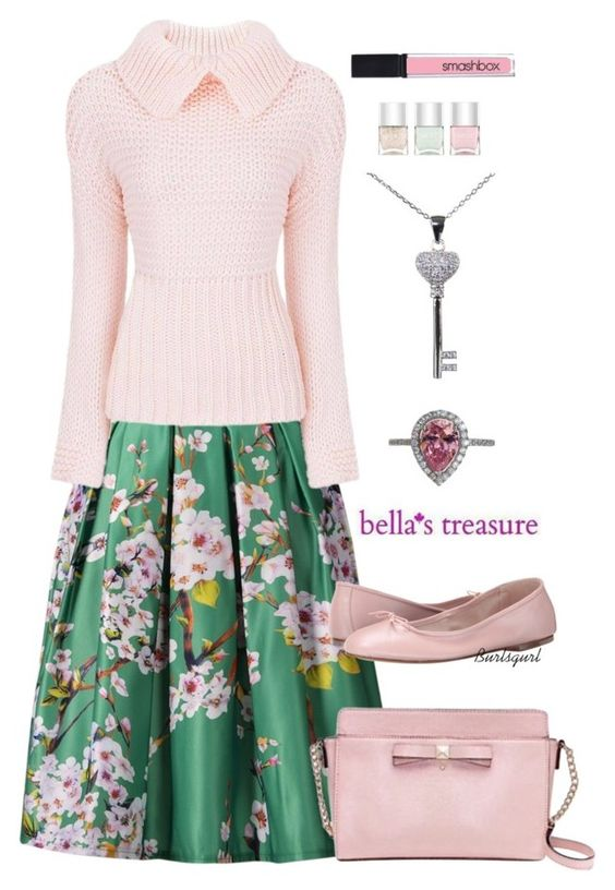 """Bella's Treasure Jewelry"" by burlsgurl ❤ liked on Polyvore featuring Kate Spade, Bloch, Smashbox, Nails Inc. and bellastreasure"