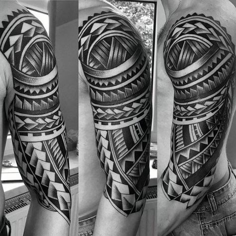 50 Polynesian Half Sleeve Tattoo Designs For Men Tribal Ideas Half Sleeve Tribal Tattoos Half Sleeve Tattoo Half Sleeve Tattoos Designs