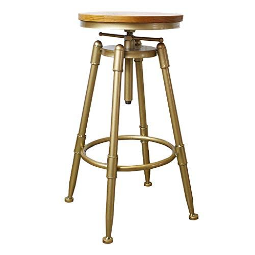 Bar Stool Swivel Foot Rest Home Kitchen Counter Adjustable Height 70 90cm Pub Barstools Bistro Round Upholste Bar Stools Gold Dining Chairs Designer Bar Stools