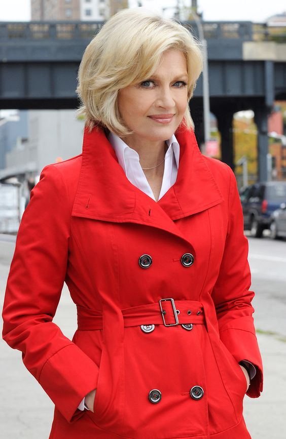 Diane Sawyer.  66 years old and looking amazing!  I hope I look half this good at her age.