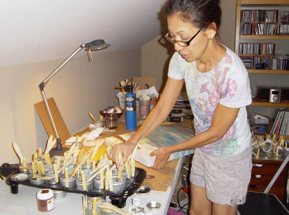 North Raleigh News. Wake Forest artist Victoria Primicias doesn't use her pancake griddle for pancakes; it's how she creates art.