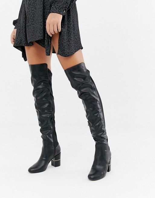 River Island over the knee heeled boots