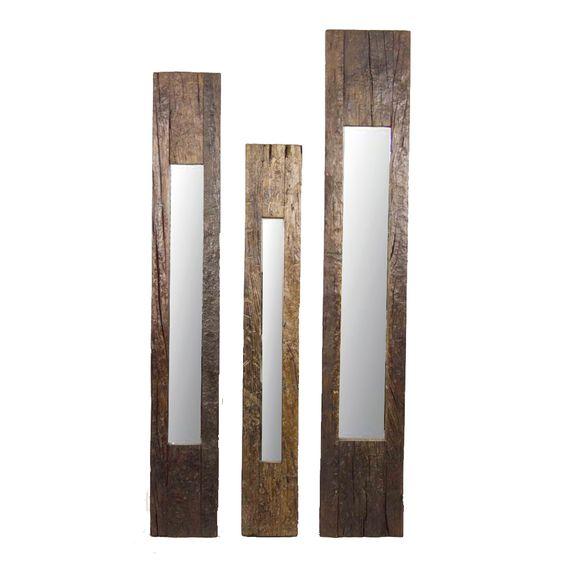 Reclaim teak slim mirror frames!