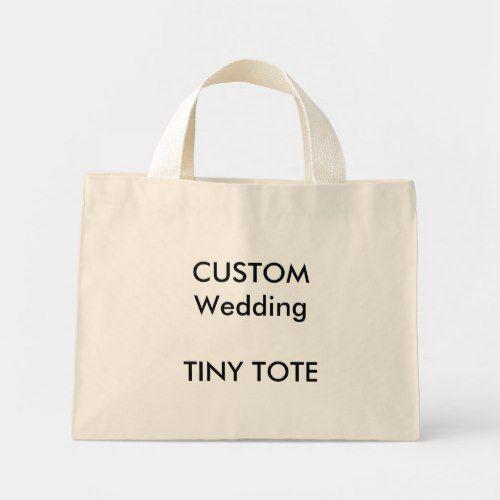 Custom Small Tote Bag Natural Color