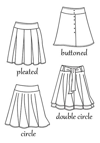 hip skirt patterns pleated buttoned circle