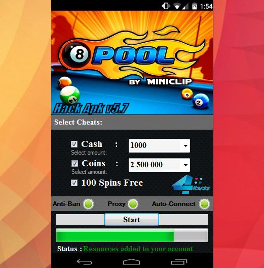 8 Ball Pool Hack Apk Cash Coins And Spins Pool Hacks Pool