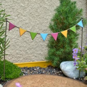 Fairy Garden Miniature Party Flags. $5.99