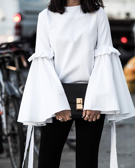 Update your classic black and white look by trying modern bell-sleeves this winter. Let DailyDressMe help you find the perfect outfit for whatever the weather!
