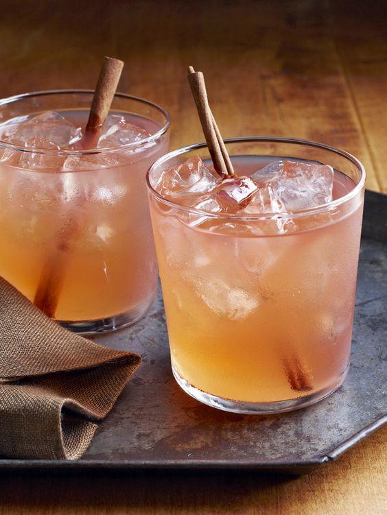 Shake applejack liqueur, lemon juice and a splash of grenadine or simple syrup. Top with hard apple cider and serve with a cinnamon stick.