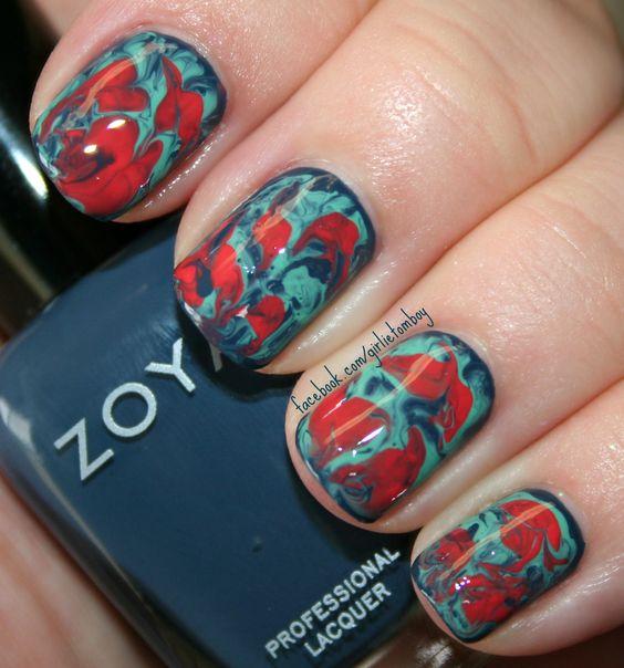 Needle Marble using Zoya Natty, Wednesday & Heidi