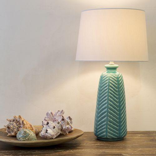 Turquoise Texture Ceramic Lamp, Turquoise Ceramic Lamp
