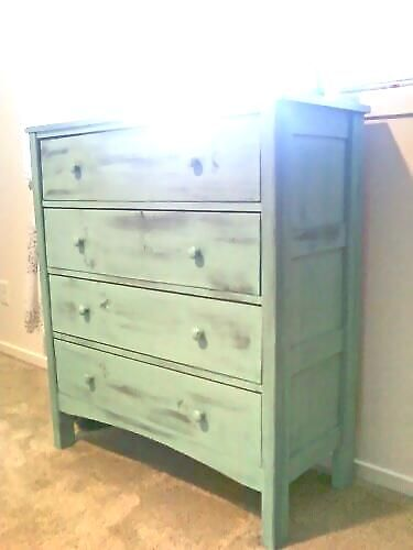"I want a taller, shallow, and fairly narrow dresser for the girls' new room. If I can't find a used one to paint, we could always build this one with our ""free time."" ;)"