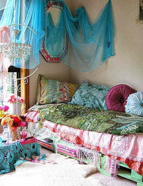 Bohemian Daybed Sofa Living Room Bedroom Gypsy Romantic