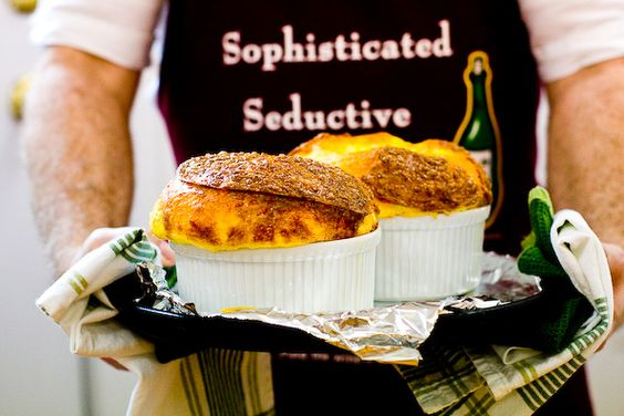 Three-Cheese Soufflé | Recipe | Cheese Souffle, Cheese and Souffle ...
